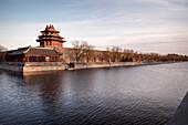 view towards Tongzi River at the Forbidden City, Beijing, China, Asia