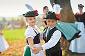 Kids, Traditional bavarian dance , Ammerland, bavaria, Germany