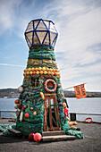 art light tower Ocean Hope at Oslofjord, Oslo, Norway, Scandinavia, Europe