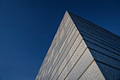 detail of rooftop construction in front of deep blue sky, the New Opera House in Oslo, Norway, Scandinavia, Europe