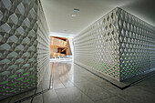 futuristic  wall cover, interior of Opera, the New Opera House in Oslo, Norway, Scandinavia, Europe