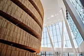 wood cover of Great Hall, interior of Opera, the New Opera House in Oslo, Norway, Scandinavia, Europe