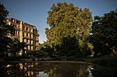 historic building in warm sunlight, Baden-Baden, spa town, Baden-Wuerttemberg, Germany