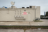gas station with satellite dish, Houston, Texas, US, United States of America, North America