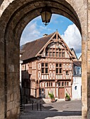 Maison du Bailli Joigny Sens Yonne Bourgogne-Franche-Comte France seen through the Porte Saint Jean.