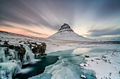 Kirkjufell Mount, Vesturland, Snaefellsness Peninsula, Iceland.