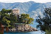 Castello di Paraggi, Portofino, province of Genoa, Liguria, Italy.