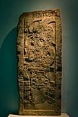 Pre-Hispanic Art Museum Rufino Tamayo, Stela of a priest, Classic Maya period, Campeche, 200-750 AD, Oaxaca, Mexico.