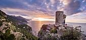 Torre des Verger, Mirador de ses Ã. nimes, Banyalbufa, Paraje natural de la Serra de Tramuntana, Mallorca, balearic islands, Spain.