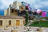 Hotel-restaurante Marqués de Riscal (architect Frank Gehry). Elciego, Rioja Alavesa, Alava, Basque Country, Spain.