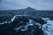 Rough seas and stormy skies are typical of the area around this infamous landmark, Cape Horn, Isla Hornos, Magallanes y de la Antartica Chilena, Patagonia, Chile