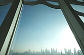 Dubai Frame, Zaabel Park, Skyline, Dubai, VAE, Vereinigte Arabische Emirate