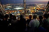 At the Top Sky, Burj Khalifa, Aussicht, Besucher, 148. Etage, 555 Meter, Dubai, VAE, Vereinigte Arabische Emirate