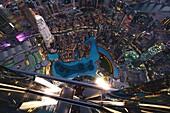 At the Top Sky, Burj Khalifa, Blick, Aussichtsterrasse, 148. Etage, 555 Meter, Dubai, VAE, Vereinigte Arabische Emirate