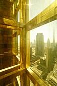 Ausblick, Sheikh Zayed Road, Burj Khalifa, Hochhäuser, Financal Centre, Dubai, VAE, Vereinigte Arabische Emirate