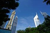Emirates Towers, Hochhäuser, Sheikh Zayed Road, Dubai, VAE, Vereinigte Arabische Emirate