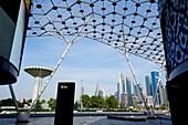 Shops, Restaurants, City Walk, Skyscraper, Dubai, UAE, United Arab Emirates