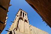Bastakiya, Historischer Stadtteil, Windturm, Bur Dubai, Dubai, VAE, Vereinigte Arabische Emirate