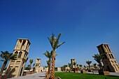 Windtürme, Al Ghubaiba Metro Station, Bur Dubai, Dubai, VAE, Vereinigte Arabische Emirate
