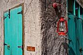 Door, Lamp, Al Seef, Bur Dubai, Dubai, UAE, United Arab Emirates