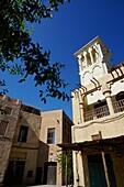 Häuser, Al Seef, Bur Dubai, Dubai, VAE, Vereinigte Arabische Emirate