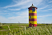 lighthouse, Pilsum, Krummhörn, Aurich - district, East Frisia, Lower Saxony, Germany, Europe
