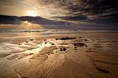 beach, sunrise, Corralejo, La Oliva, Fuerteventura, Spain, Europe