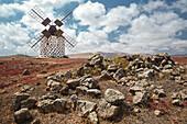 windmill, Villaverde, La Oliva, Fuerteventura, Spain, Europe