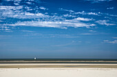 beach, sailboat, North Sea, Wangerooge, East Frisian Islands, Friesland - district, Lower Saxony, Germany, Europe