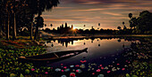 Sunrise at Angkor Wat, Angkor Wat, Siem Raep, Cambodia, Asia