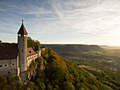 Castle ruin Burg Teck, Owen, Swabian Alb, Baden-Wuertemberg, Germany