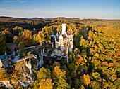 Lichtenstein Castle, Swabian Alb, Baden-Wuerttemberg, Germany