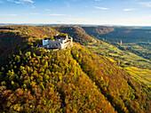 Castle ruin Hohenneuffen, Swabian Alb, Baden-Wuertemberg, Germany