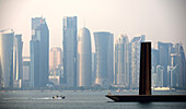 View from Museum of Islamic Art at Corniche, Doha, Qatar