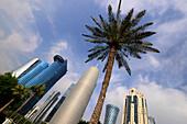Skyscrapers at the northern Corniche, Doha, Qatar