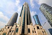 at the Skyscrapers at the northern Corniche, Doha, Qatar