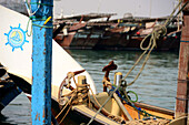 In the harbour of Dhaus, Al Khor, Qatar