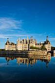 Schloss Chambord, Nordfassade, UNESCO-Weltkulturerbe, Chambord, Loire, Department Loire et Cher, Region Centre, Frankreich