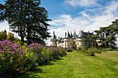 Schloss Chaumont mit Parkanlage, Château de Chaumont, Chaumont-sur-Loire, Loire, Département Loir-et-Cher, Frankreich