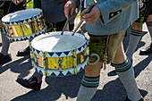 drummer in costume, Upper Bavaria, Germany, Europe