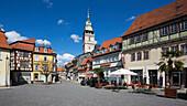 Cornmarket, Kornmarkt, Marktkirche, Saint Bonifacius church, Bad Langensalza, Thuringia, Germany, Europe