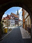 Altstadt mit Kirche Sankt Bonifacius, Bad Langensalza Thüringen, Deutschland, Europa