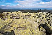 Granitblöcke, auf dem Gipfel des Lusen, Nationalpark, Bayerischer Wald, Bayern, Deutschland, Europa
