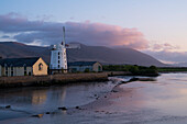 Historic windmill in Blennerville at dusk seen from while walking the Dingle Way, Blennerville, near Tralee, Dingle Peninsula, County Kerry, Ireland, Europe