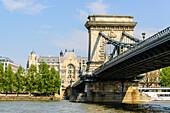 Brücke über die Donau, Budapest, Ungarn