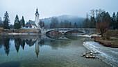 Brück bei Ribcev Laz, Bohinje See, Triglav Nationalpark, Slowenien