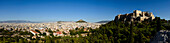 Panoramic view of the Acropolis and Athens, Greece
