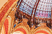 Glass dome of the Galeries Lafayette, Paris, France, Europe
