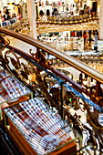 Reflection of the glass dome in the department store Galeries Lafayette, Paris, France, Europe