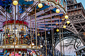 Carousel at the Eiffel Tower, Paris, France, Europe